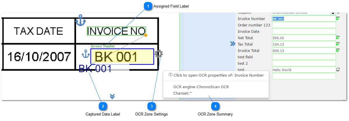 OCR Zones Setup